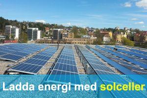 Ladda energi med solceller