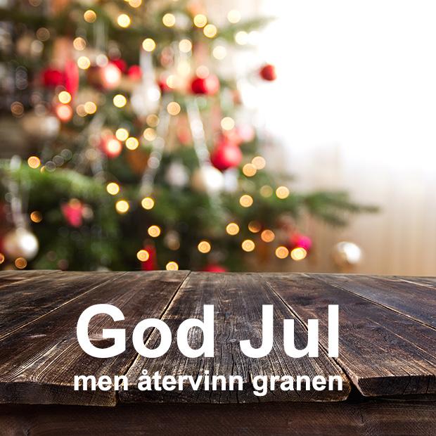 Återvinn julgranen